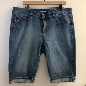Tommy Hilfiger Bermuda Cuffed Denim Shorts Blue 16